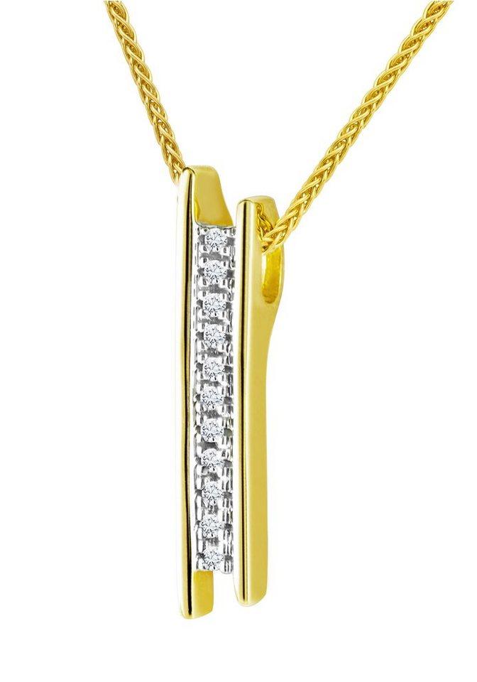 diamond line goldkette mit hochwertigem diamanten anh nger. Black Bedroom Furniture Sets. Home Design Ideas