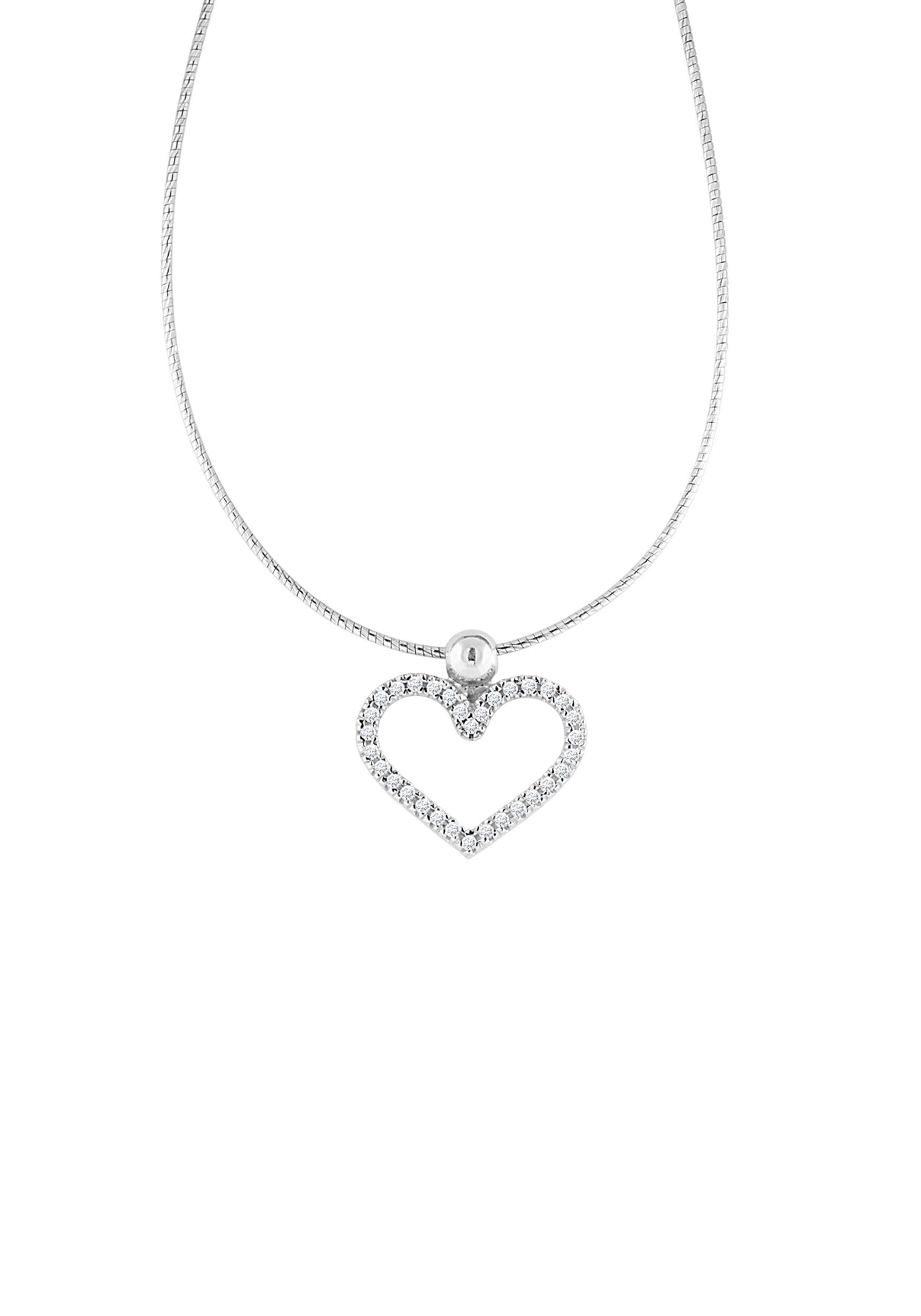 Bella Donna Jewels Halskette mit femininem Herz-Anhänger