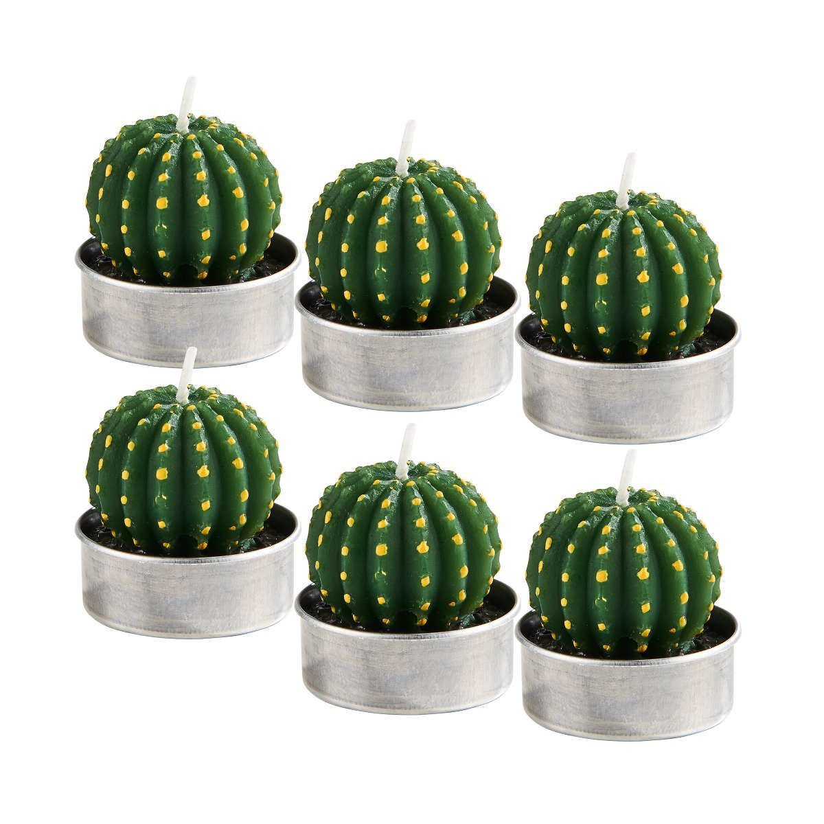 BUTLERS FLAMBEAU »Teelichte Kaktus rund 6er-Set« | Dekoration > Kerzen und Kerzenständer > Teelichter | BUTLERS