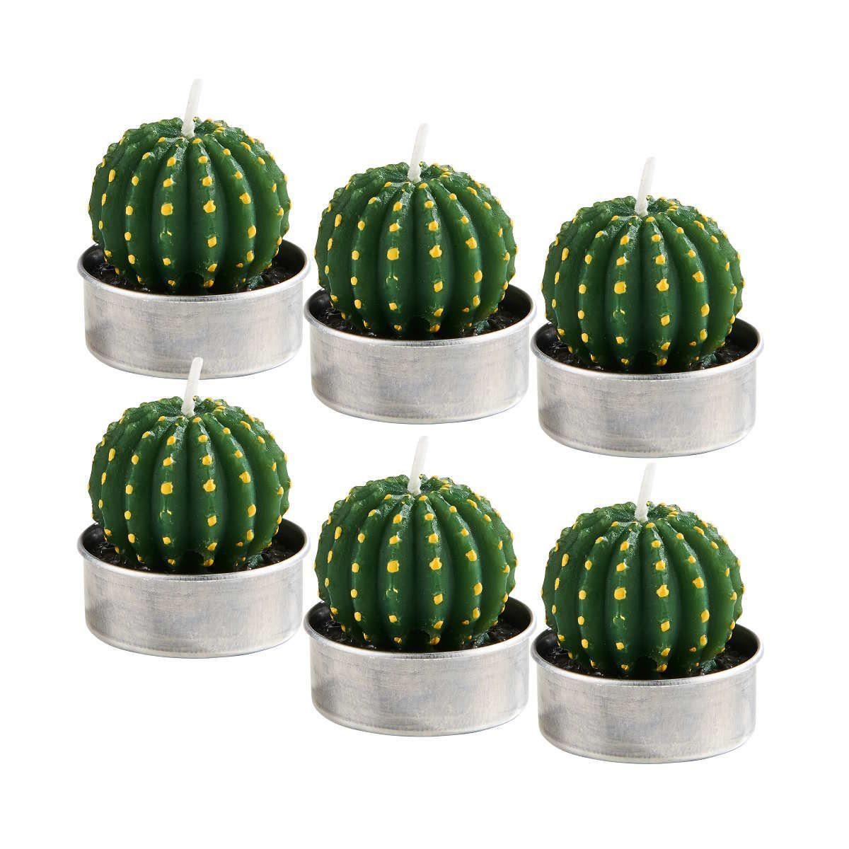 BUTLERS FLAMBEAU »Teelichte Kaktus rund 6er-Set«