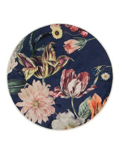 Teppich »Filou«, Essenza, rund, Höhe 6 mm, sehr weicher Flor, Blumen Design, Wohnzimmer
