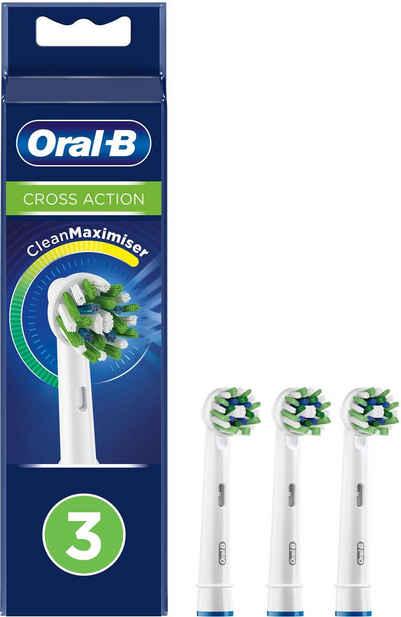 Oral B Aufsteckbürsten »Cross Action CleanMaximizer«, CleanMaximiser-Technologie