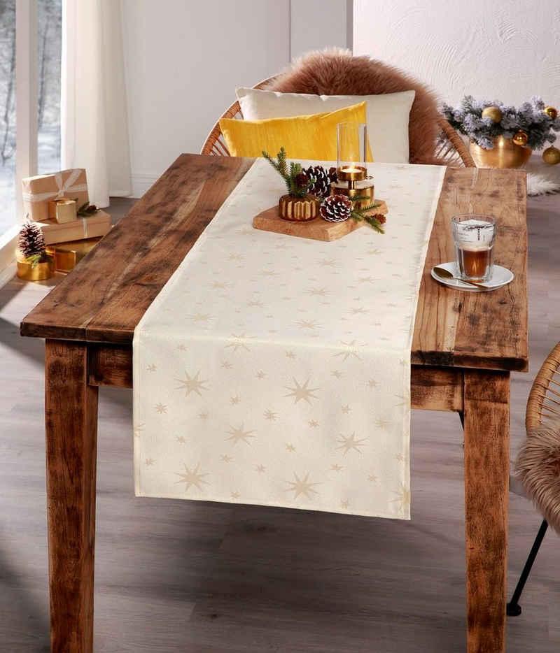 Tischläufer, »Weihnachten Tischläufer Abete«, Peyer Syntex