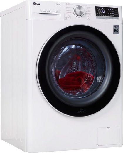 LG Waschtrockner 4 V4 WD 85S1, 8 kg, 5 kg, 1400 U/min, mit Dampftechnologie