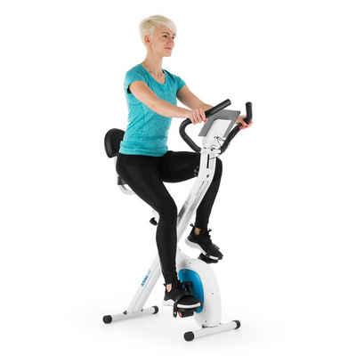 Capital Sports Fahrradtrainer »Azura Air Heimtrainer X-Bike SilentBelt Magnetwiderstand faltbar« (Tablet-Halterung ; pullsmesser;Trainingscomputer mit LCD-Display)