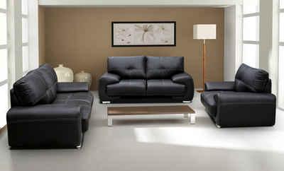 Mars Möbel Big-Sofa »Polstergarnitur Omega Set 3+2+1 Sofa Wohnzimmer Sofagarnitur 3-tlg Couch«