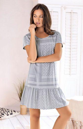 s.Oliver Nachthemd mit Pashmina-Druckmuster