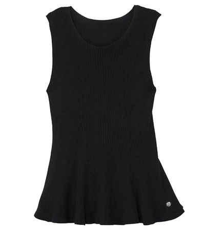 GUIDO MARIA KRETSCHMER Shirttop »GUIDO MARIA KRETSCHMER Seamless Strick-Top sommerliches Damen Rundhals-Shirt Freizeit-Shirt Schwarz«
