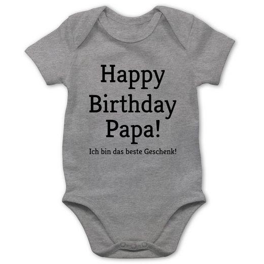 Shirtracer Shirtbody »Happy Birthday Papa! Ich bin das beste Geschenk! - Baby Body Kurzarm - Strampler & Bodies« Anlässe Baby