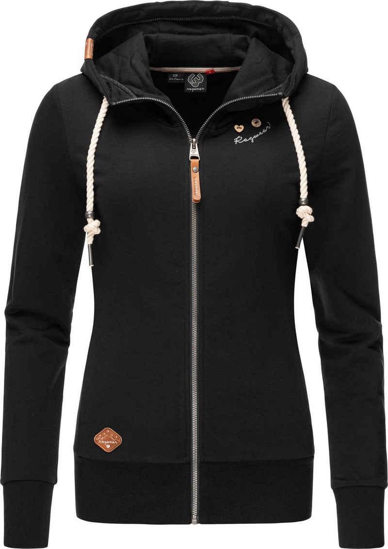 Ragwear Sweatjacke »Paya Intl.« sportlicher Damen Kapuzensweater mit Kordeln