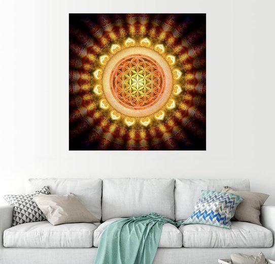 Posterlounge Wandbild, Blume des Lebens - Sonne
