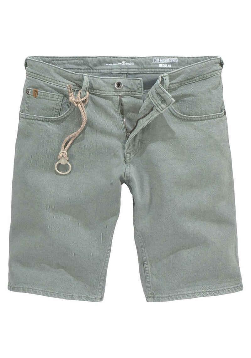 TOM TAILOR Denim Jeansshorts mit Zierband