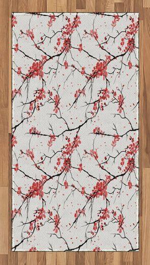 Teppich »Flachgewebe Deko-Teppiche für das Wohn-,Schlaf-, und Essenszimmer«, Abakuhaus, rechteckig, Blume Windy April Wetter
