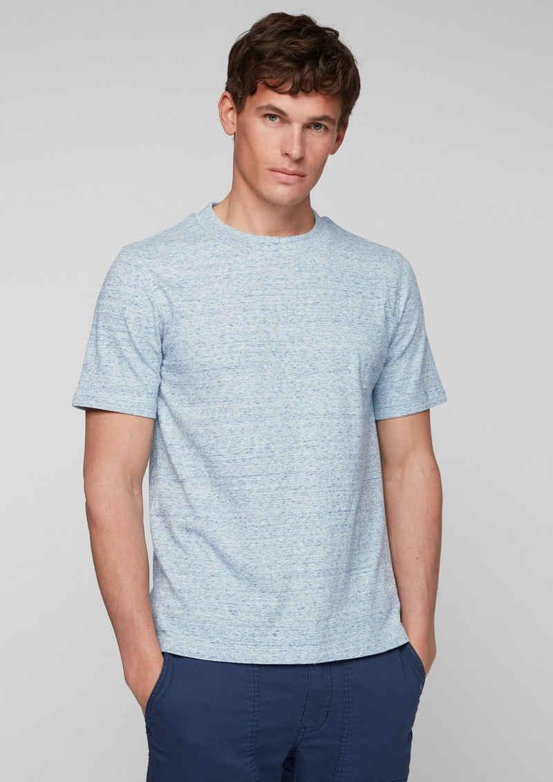 s.Oliver Kurzarmshirt »Shirt mit geripptem Ausschnitt« (1-tlg)