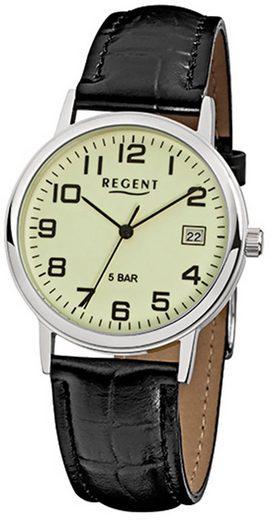 Regent Chronograph »URF793 Regent Herren-Armbanduhr schwarz Analog«, (Analoguhr), Herren Armbanduhr rund, mittel (ca. 34mm), Metall, Elegant