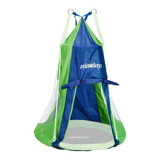 relaxdays Nestschaukel »Zelt für Nestschaukel blau-grün«