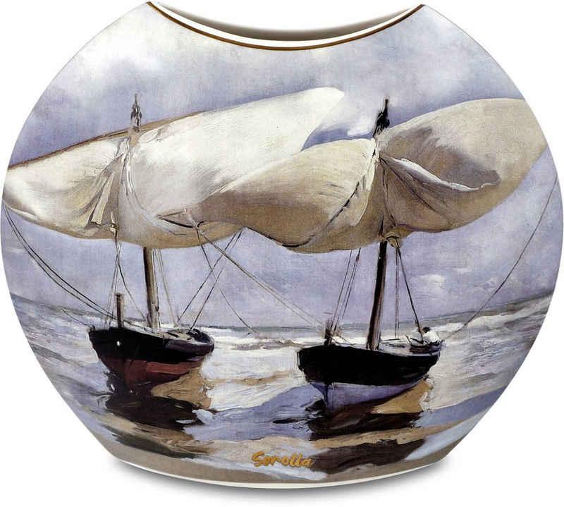 "Goebel Tischvase »Vase Joaquin Sorolla - ""Boote / Spaziergang am Strand""« (1 Stück)"