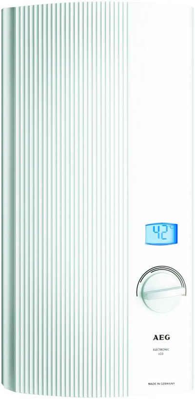 AEG Durchlauferhitzer »DDLE-LCD 18 / 21 / 24«, elektronisch, 30 °C, max 60 °C, Solargeeignet für Zulauftemperaturen bis 60 °C