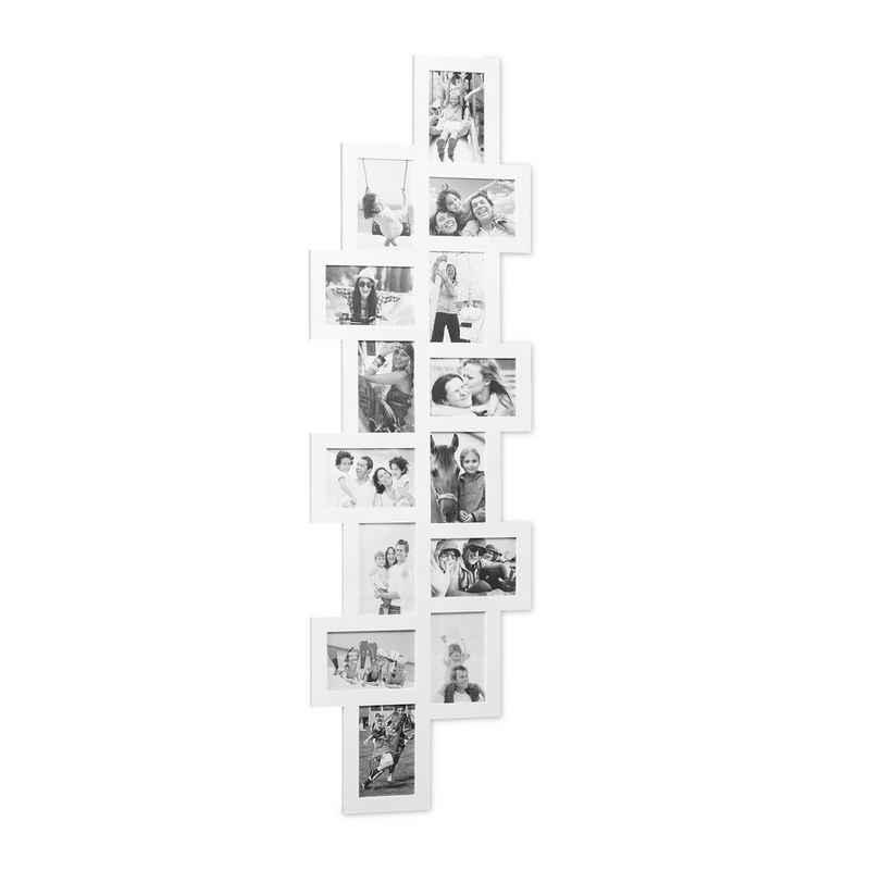 relaxdays Staffelbilderrahmen »Bilderrahmen Collage XXL für 14 Fotos«