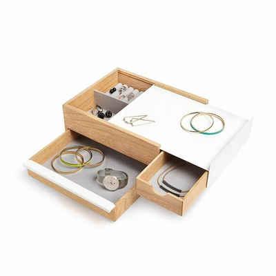 Umbra Schmuckkasten »Umbra STOWIT Schmuckkasten 290245-668 in weiß / Holz Design Schmuckbox Etui Aufbewahrung«