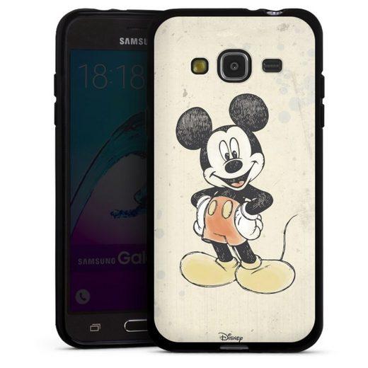 DeinDesign Handyhülle »Mickey Watercolor« Samsung Galaxy J3 (2016), Hülle Offizielles Lizenzprodukt Disney Maus