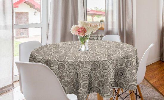 Abakuhaus Tischdecke »Kreis Tischdecke Abdeckung für Esszimmer Küche Dekoration«, Beige Kreisförmige Zusammensetzung Spitze