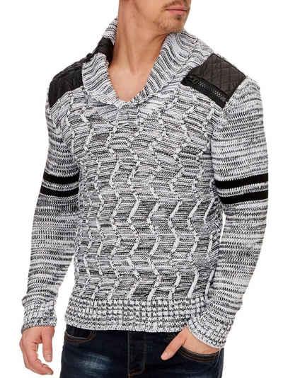 Tazzio V-Ausschnitt-Pullover, Strickpullover »16402« modischer und angesagter Strick Pullover