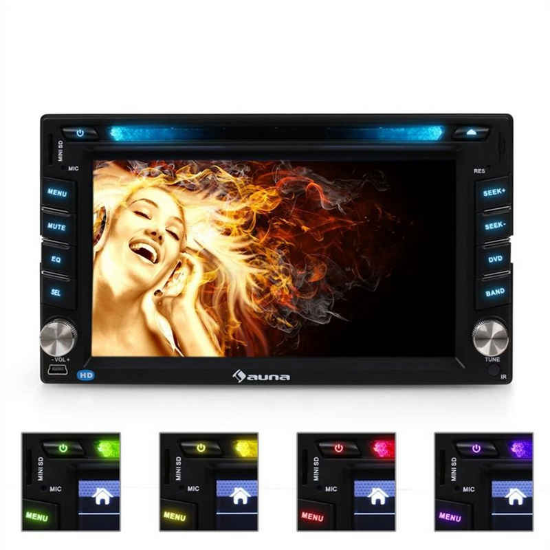 Auna »MVD-480 Moniceiver DVD CD MP3 USB SD HD 6,2'' Touchscreen Bluetooth« Autoradio