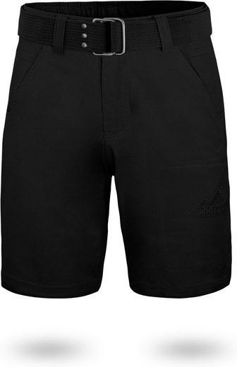 """normani Bermudas »Chino Shorts """"Gobi"""" mit Gürtel """"Taklamakan""""« Vintage Shorts kurze Sommershort mit invisible Zippertasche aus 100% Bio-Baumwolle"""