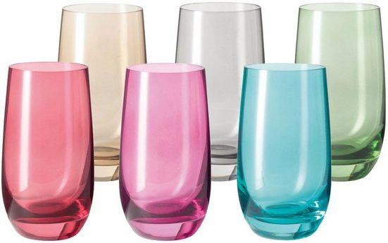 LEONARDO Glas »Sora« (6-tlg), Colori Qualität, 390 ml
