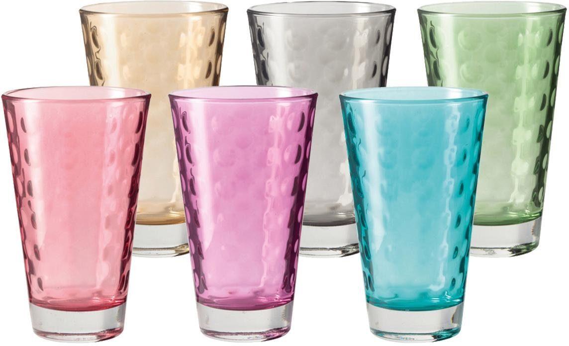 LEONARDO Glas »Optic« (6 Stück), Colori Qualität
