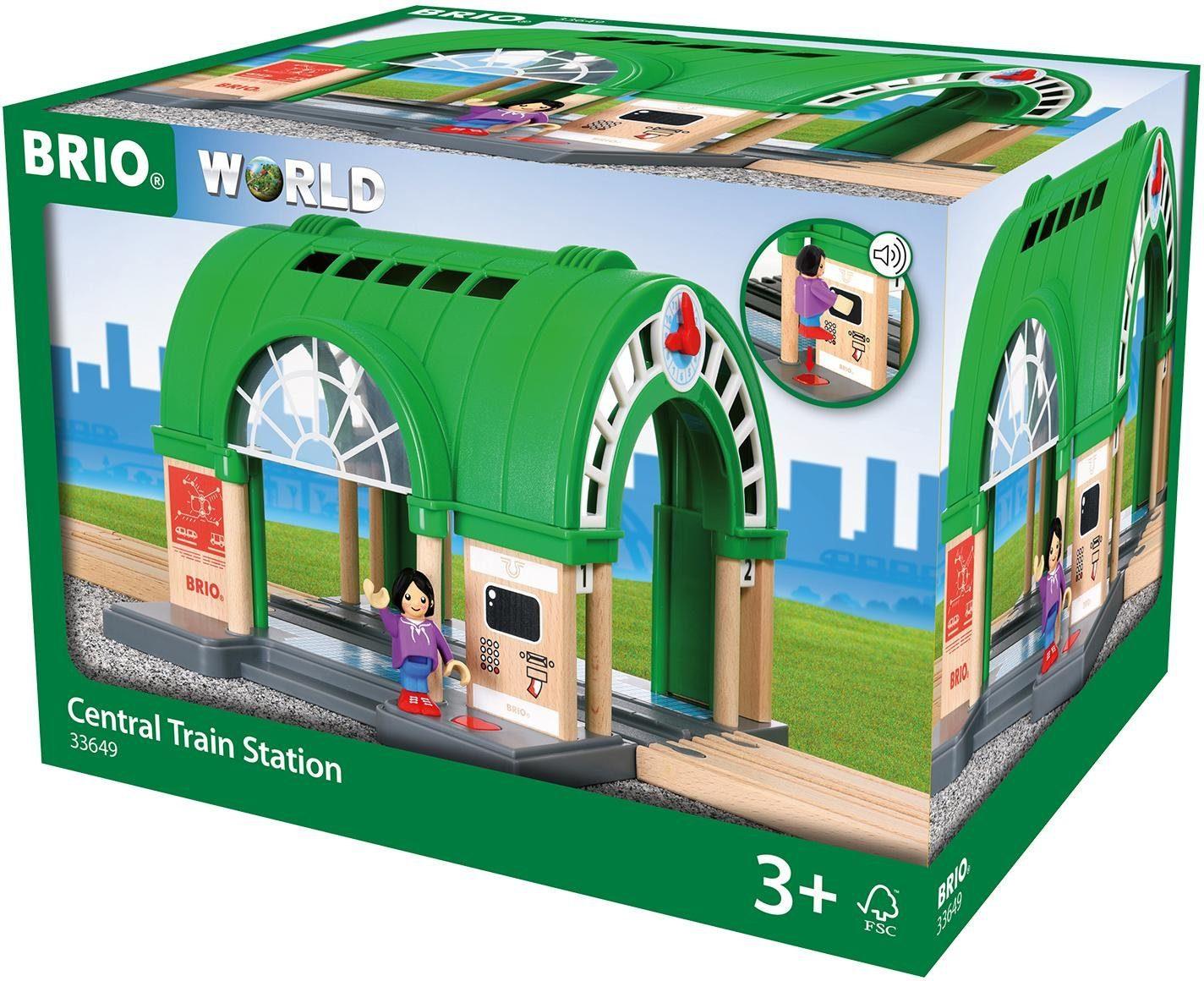 BRIO® Spielset mit Sound, »Großer Hauptbahnhof mit Ticketautomat«