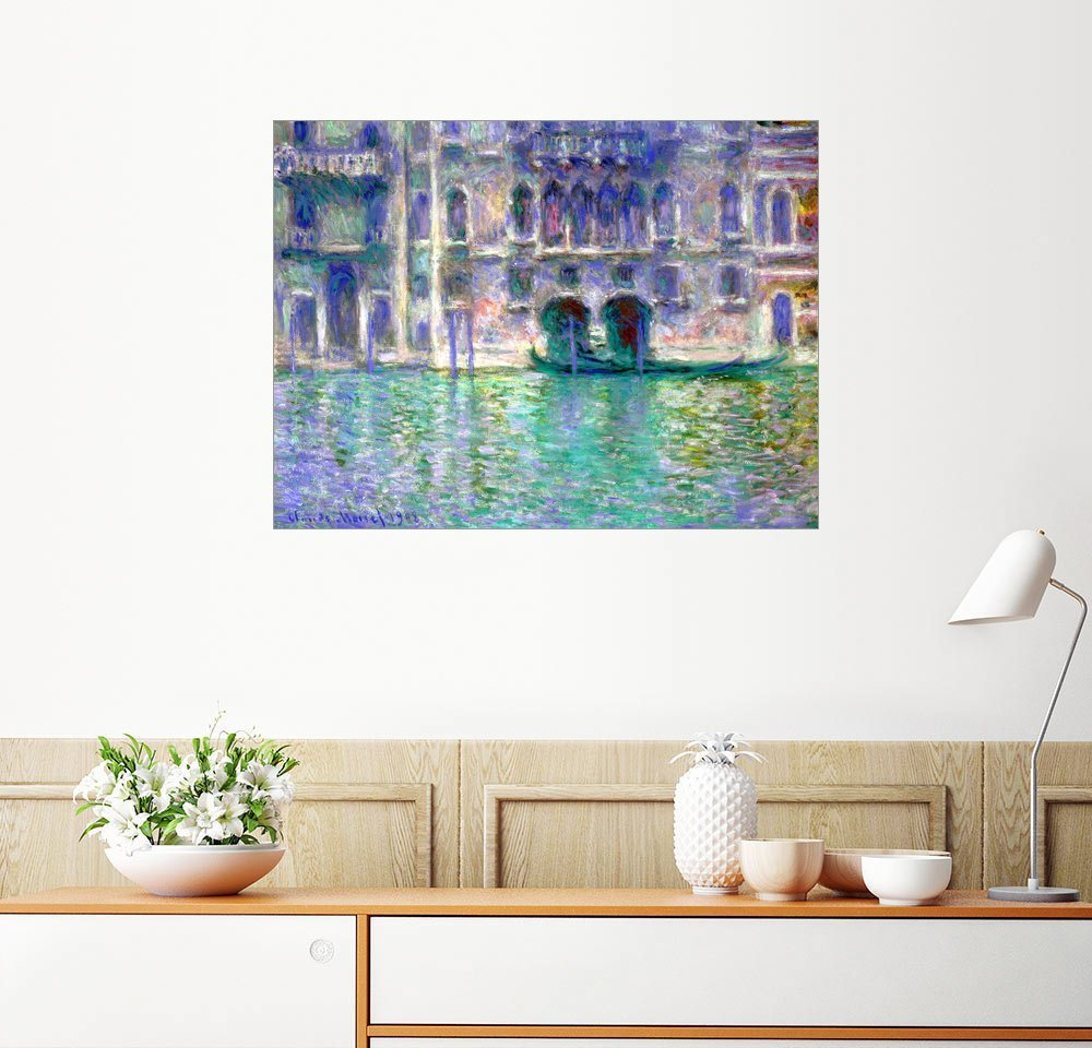 Posterlounge Wandbild - Claude Monet »Palazzo da Mula, Venedig«   Dekoration   Bunt   Holz   Posterlounge