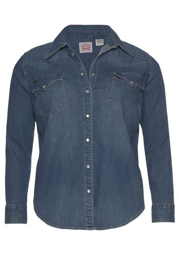Jeansbluse Plus Permuttoptik Size »plus Jeanshemd Western Levi's® In Druckknöpfen Mit Shirt« 5gRwqR