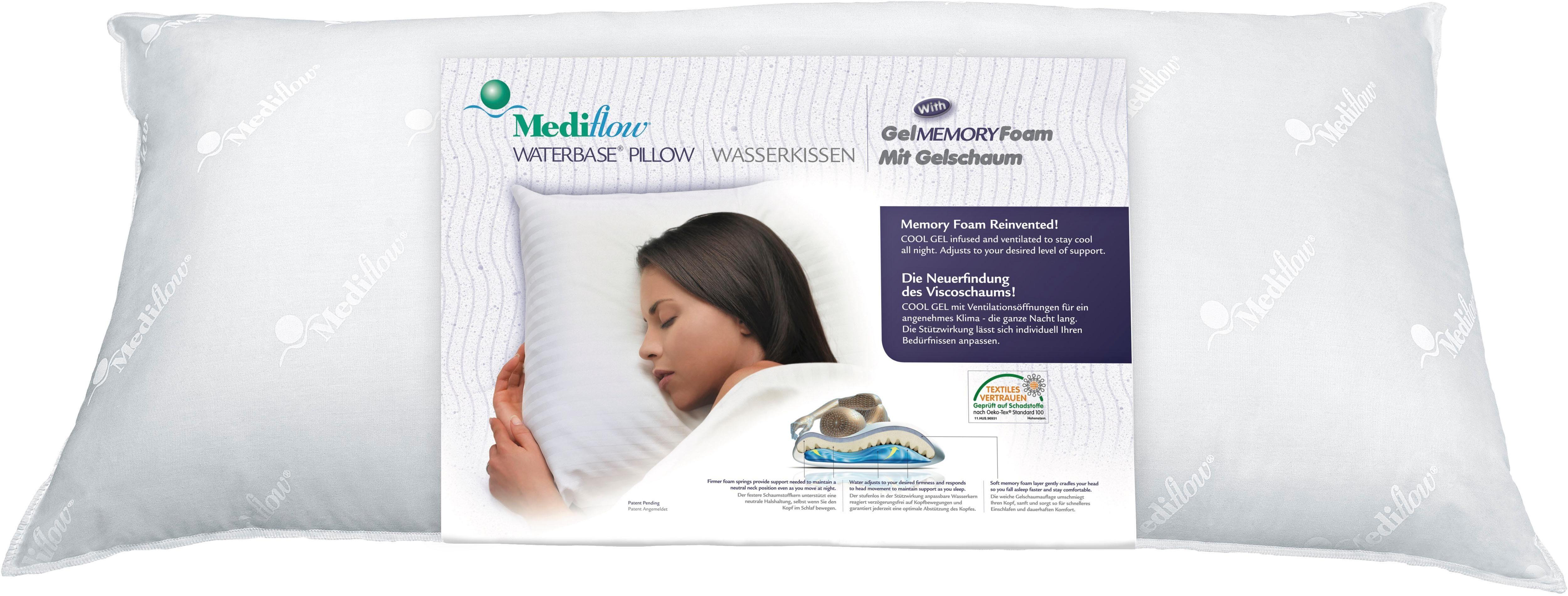 Wasserkissen, »Mediflow Original Visco-Gelschaum-Wasserkissen 5007 50x70cm«, Mediflow, Bezug: 100% Baumwolle, (1-tlg)