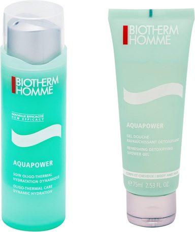 BIOTHERM Pflege-Set »Aquapower« Spar-Set, 2-tlg., mit Vitaminen E, C und B5