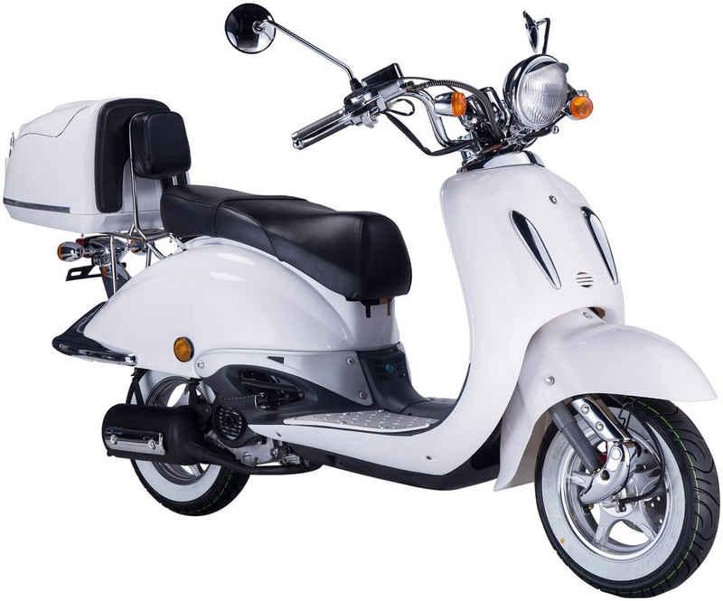 GT UNION Motorroller »Strada«, 50 ccm, 45 km/h, Euro 5, (Set), mit Topcase