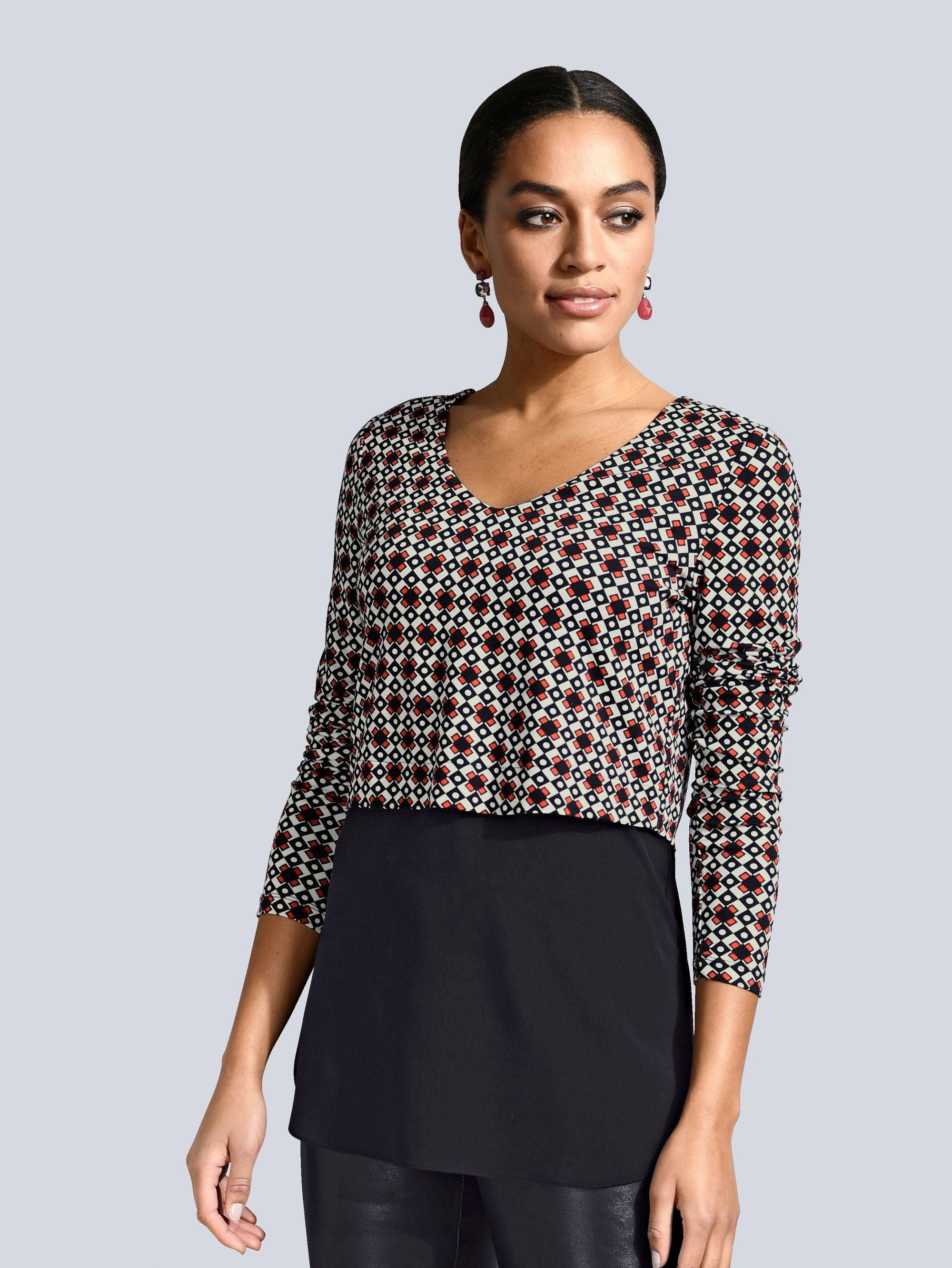 Alba Moda Shirt mit modischem Lagen-Look