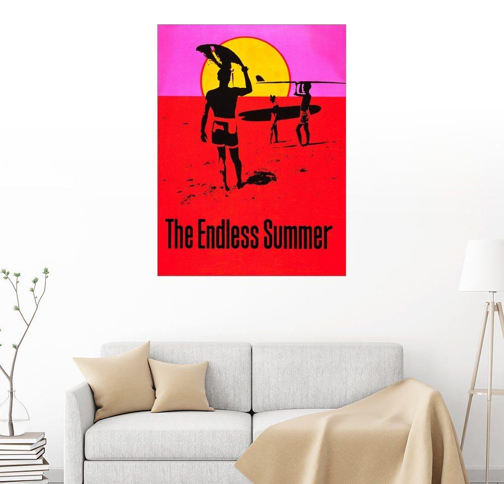 Posterlounge Wandbild The Endless Summer rot | 04053829992861