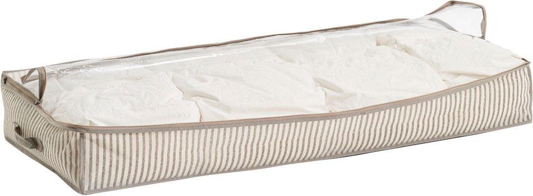 Zeller Unterbett-Aufbewahrungs-Tasche »Stripes«, Vlies, beige