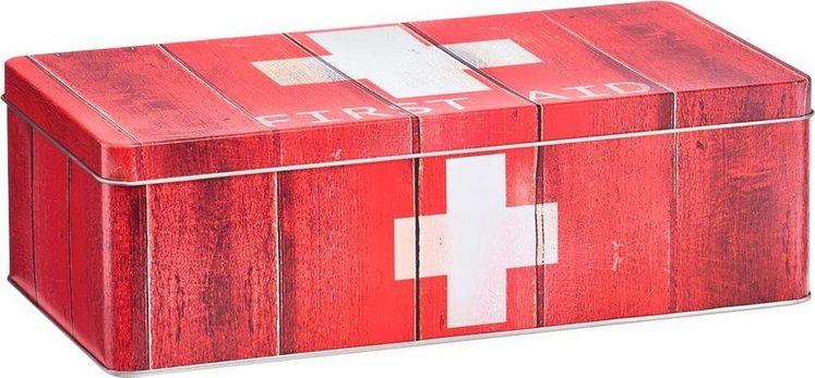 Zeller Medizin-Box »First Aid«, Metall, rot