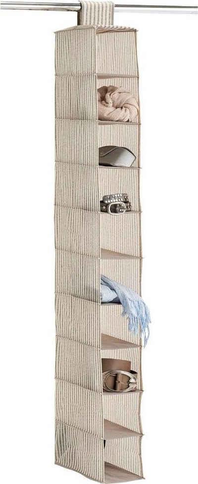Zeller Present Allzweckkorb »Stripes«, 10 Fächer, Vlies, beige