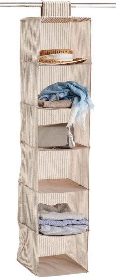 Zeller Present Allzweckkorb »Stripes«, 6 Fächer, Vlies, beige