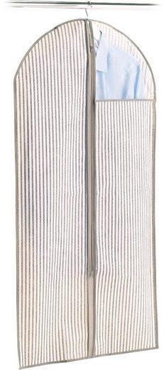 Zeller Kleiderhülle m. Fenster »Stripes«, Vlies, beige