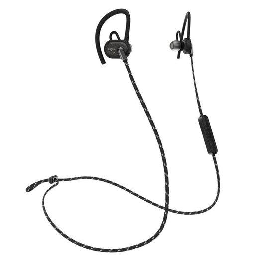 House of Marley »Bluetooth In-Ear-Kopfhörer UPRISE WIRELESS« Bluetooth-Kopfhörer (Schweißfest, Wetterfest, IPX5, Mikrofon, anpassbarer Ohrbügel, bis zu 8 Stunden Akkulaufzeit, Farbe: Black / EM-FE063-BK)