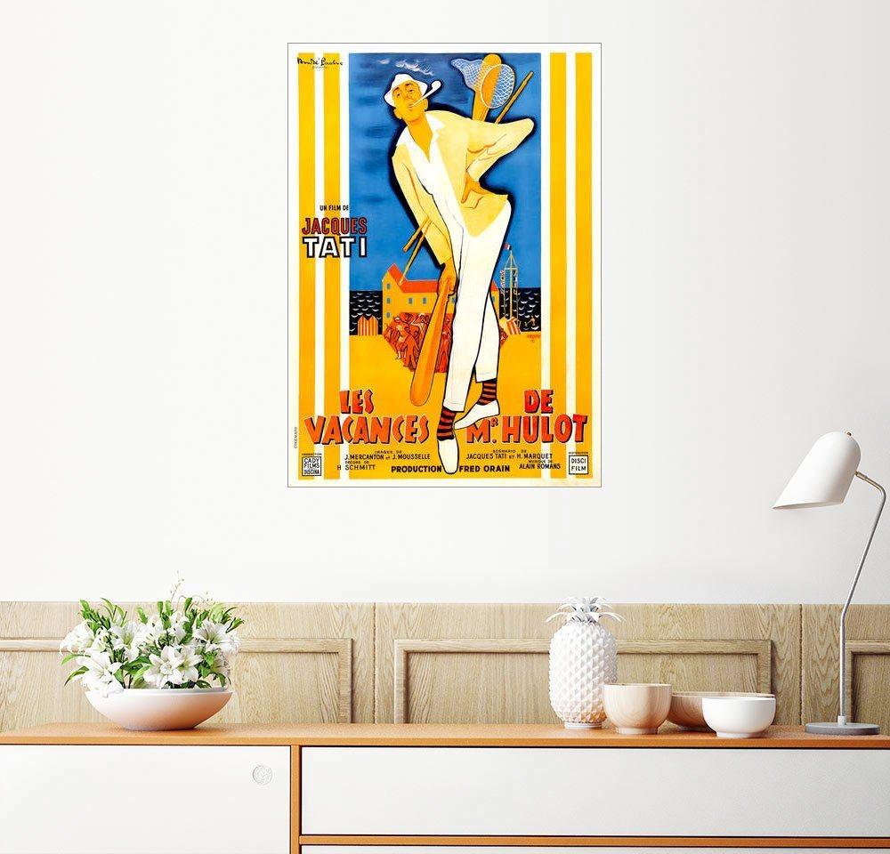 Posterlounge Wandbild Die Ferien des Monsieur Hulot bunt,mehrfarbig | 04053831212759