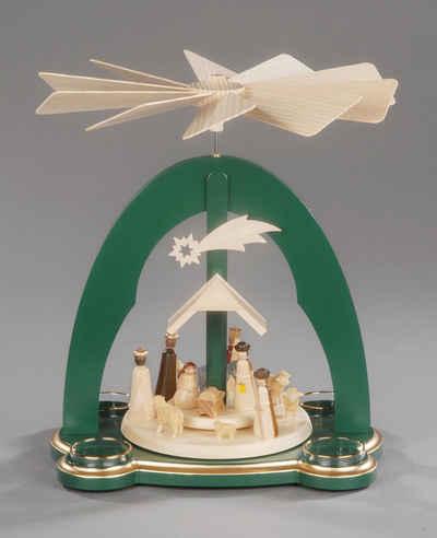 Albin Preissler Weihnachtspyramide »Christi Geburt«, Handwerkskunst aus dem Erzgebirge