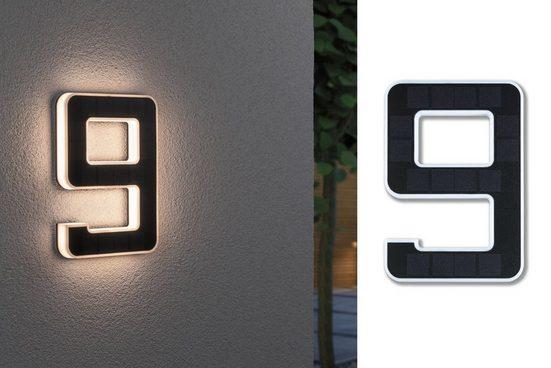 Paulmann Außen-Wandleuchte »Outdoor Solar«, Hausnummer 9