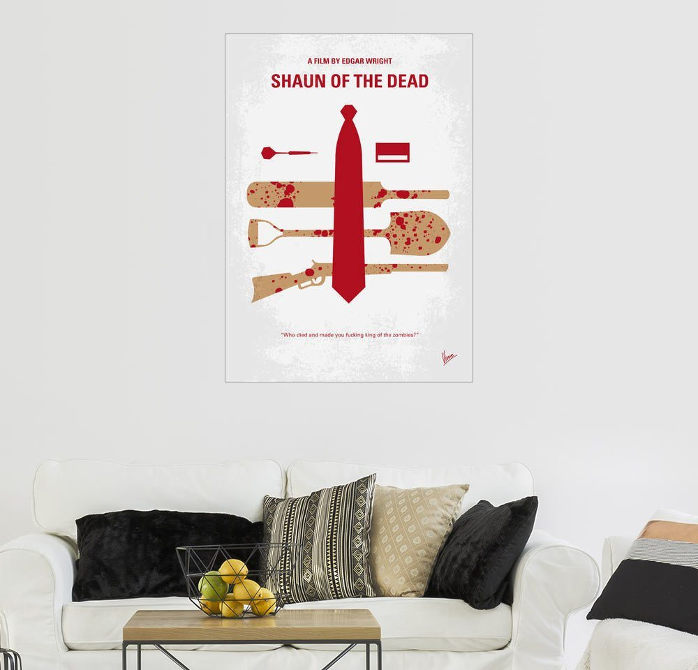 Posterlounge Wandbild   Chungkong »No349 My Shaun Of The Dead Minimal Movie  Poster«