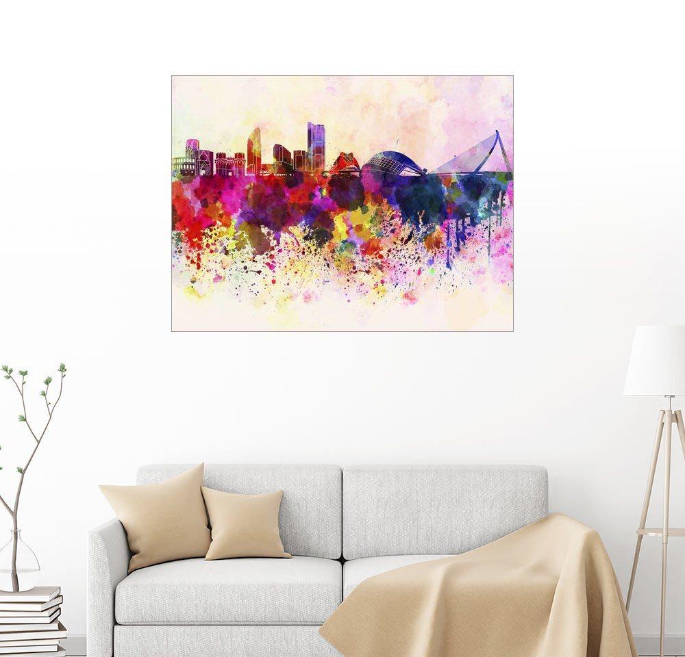 Posterlounge Wandbild Valencia-Skyline bunt,mehrfarbig | 04053831194529